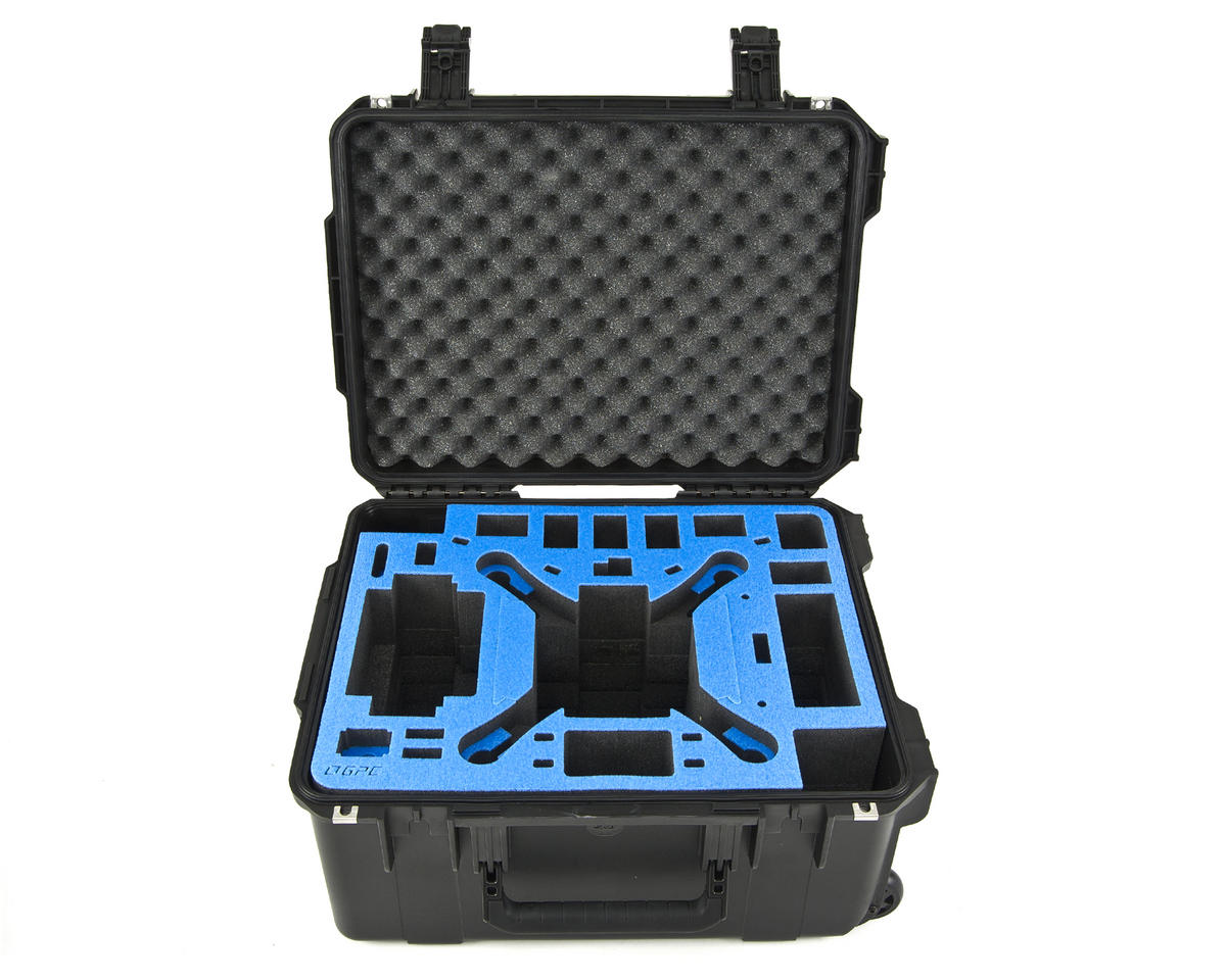Go Professional DJI Phantom 2/Vision/Vision+ Universal Hard Case w/Wheels
