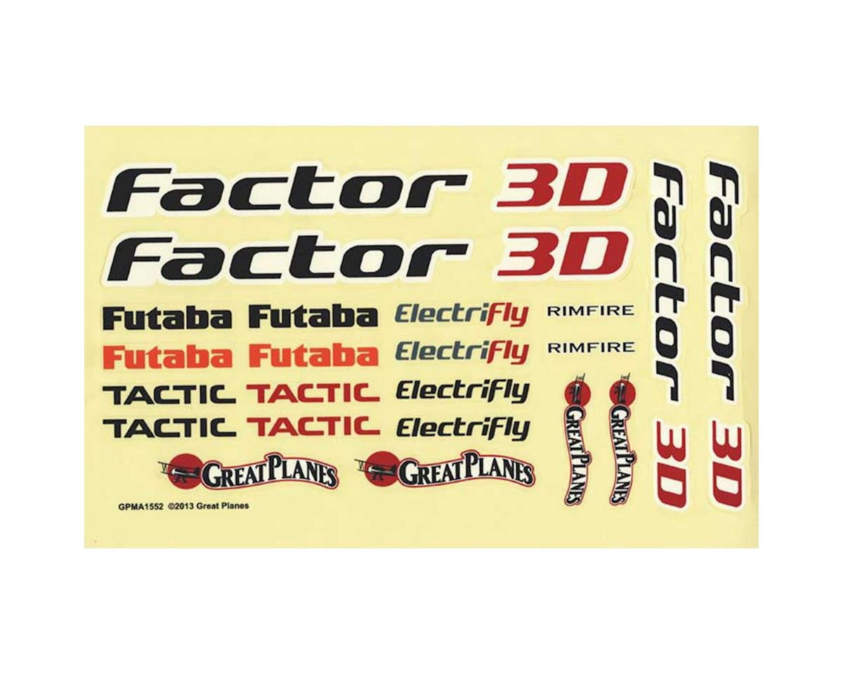 Great Planes Decals Factor 3D EP ARF
