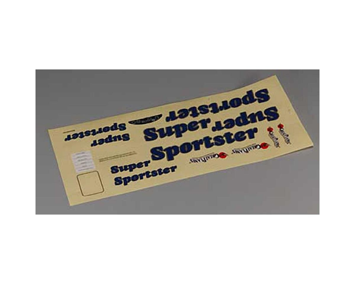 Great Planes Decal Set Super Sportster ARF
