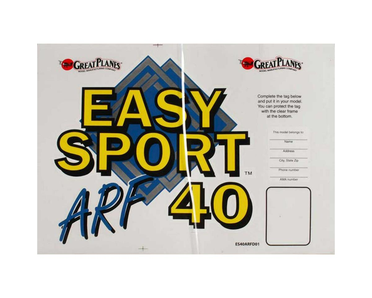 Great Planes Decal Set Easy Sport 40 ARF MonoKote