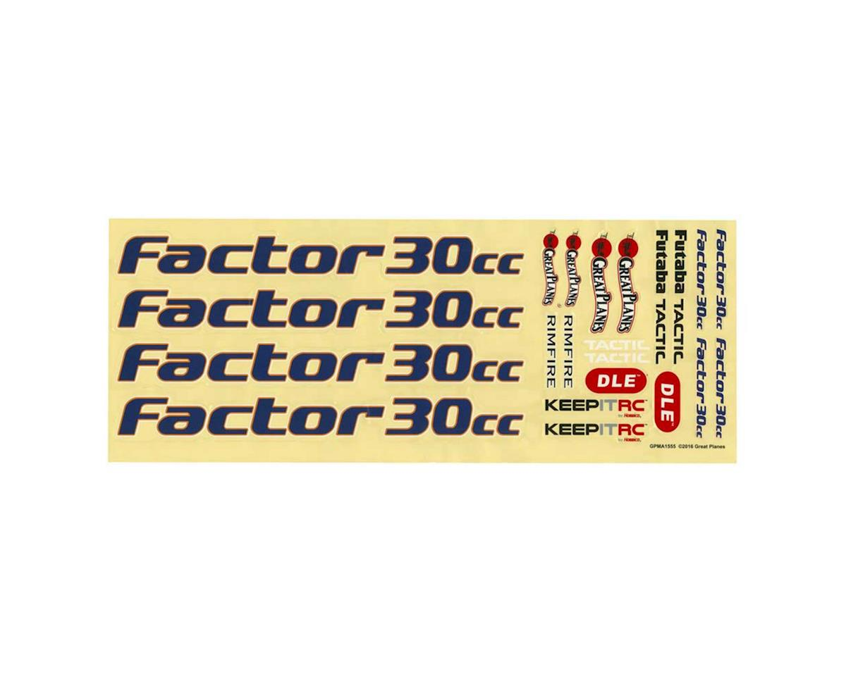 Great Planes Decals Factor 30cc/EP ARF