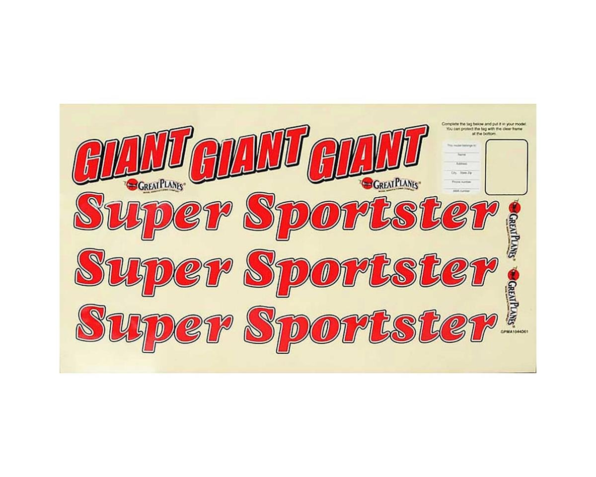 Great Planes Decal Giant Super Sportster ARF