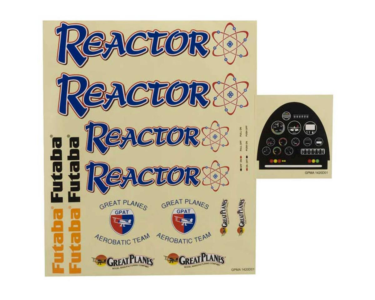 Great Planes Decal Sheet 1.60 Reactor ARF