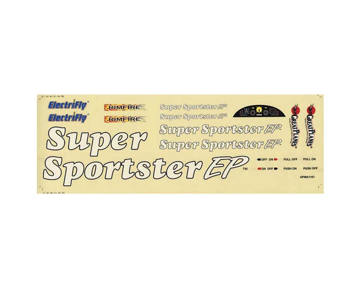 Great Planes Decal Super Sportster BL EP ARF
