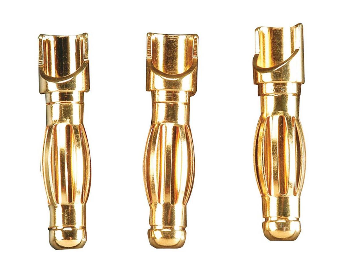Gold Plated 4mm Male Bullet Connector (3) by Great Planes