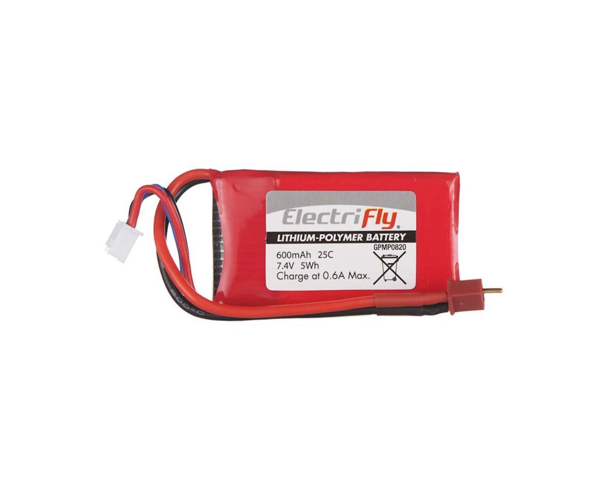 Great Planes LiPo 2S 7.4V 600mAh 25C Electrifly w/Micro Plug