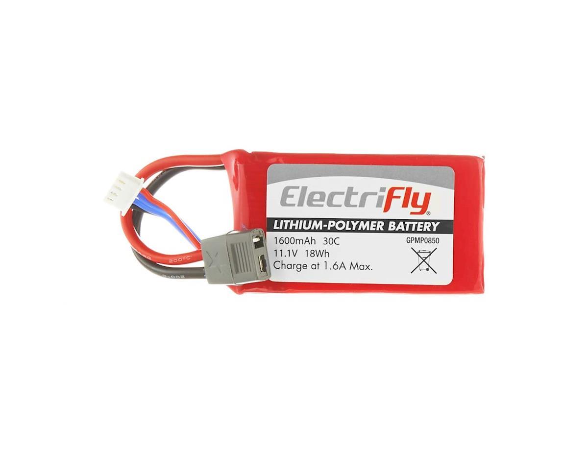 Great Planes LiPo 3S 11.1V 1600mAh 30C Elctrfly w/Star Plug