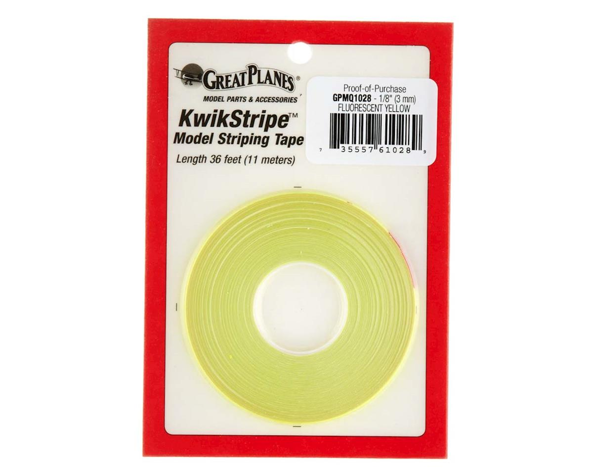 "Striping Tape Fluorescent Yellow 1/8"" by Great Planes"