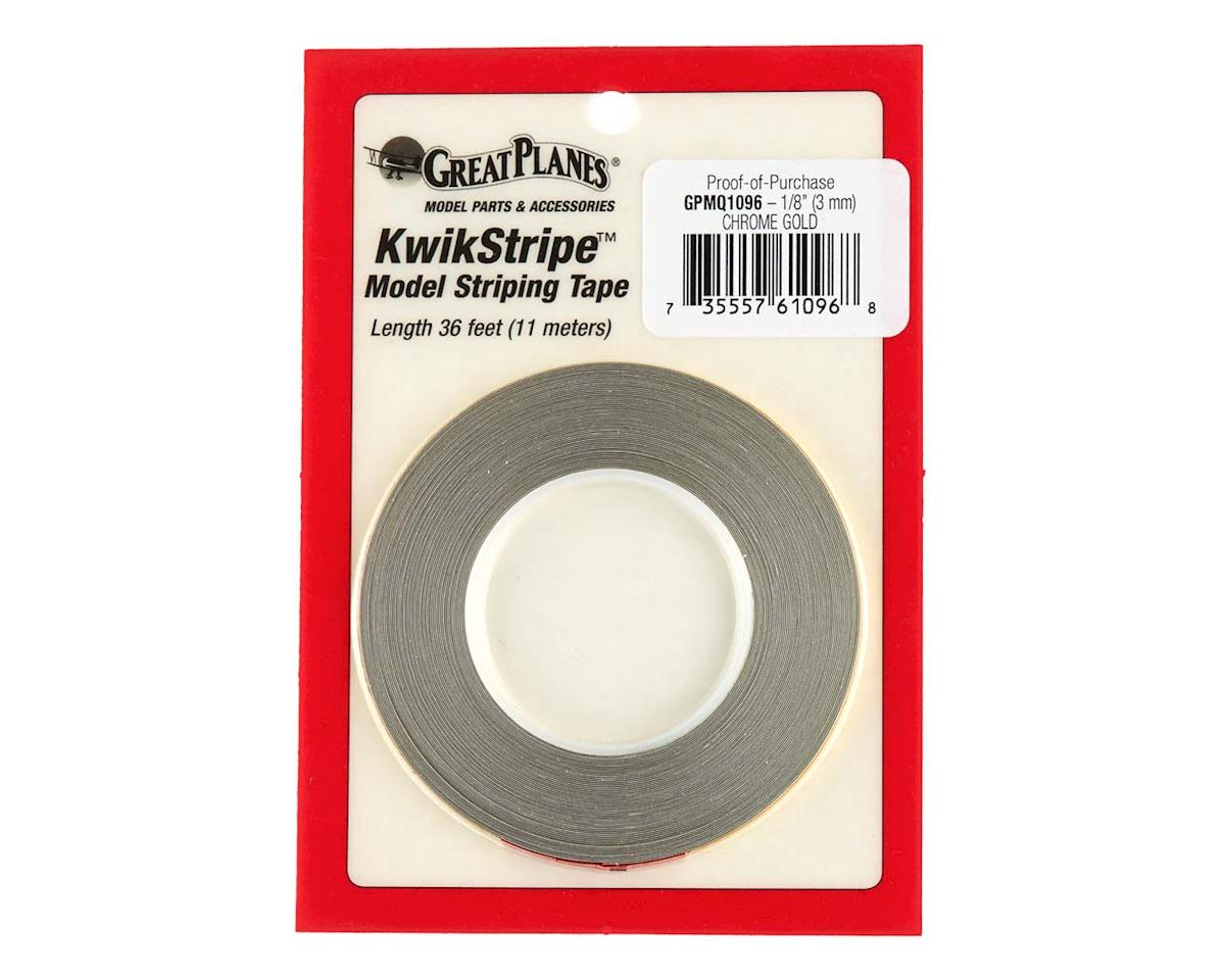 """Great Planes Striping Tape Chrome Gold 1/8"""""""