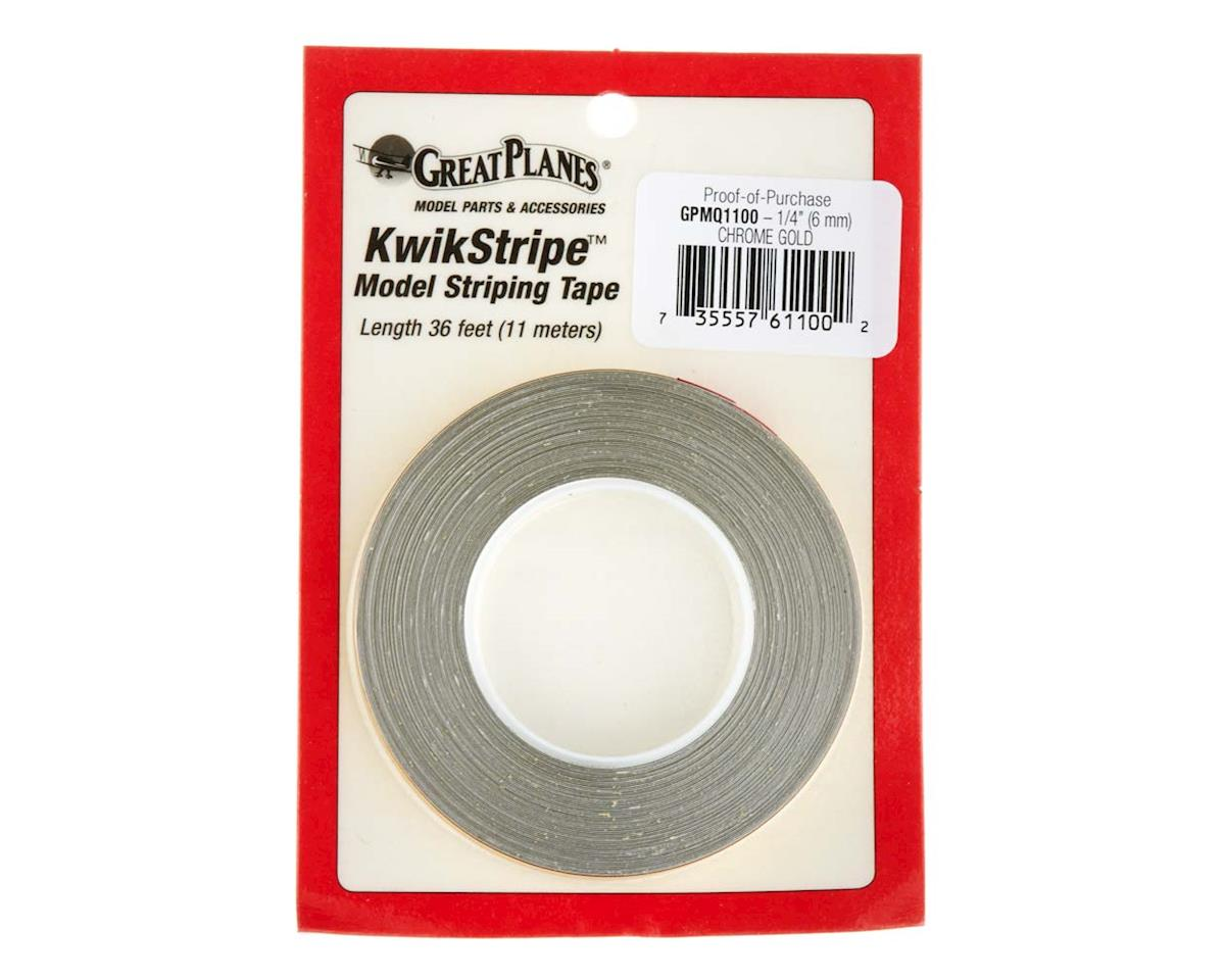 """Great Planes Striping Tape Chrome Gold 1/4"""""""