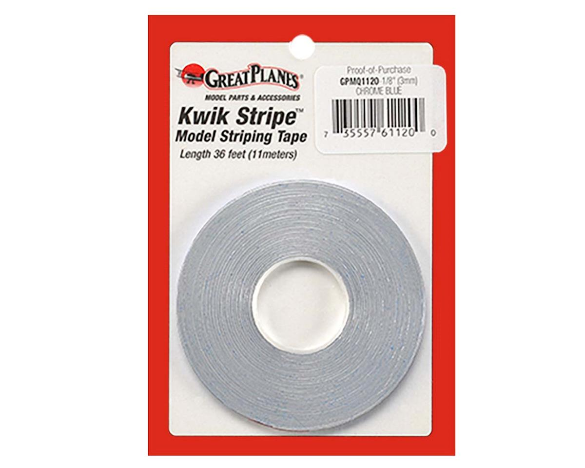 "Striping Tape Chrome Blue 1/8"" by Great Planes"