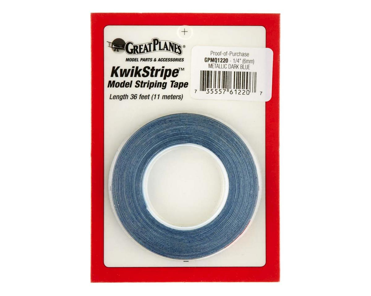 "Striping Tape Metallic Dark Blue 1/4"" by Great Planes"