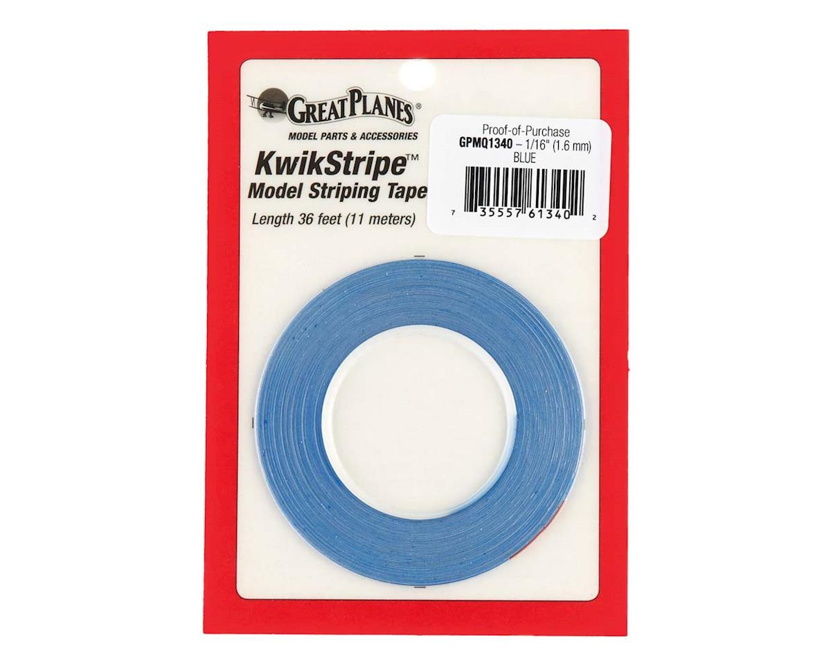 Great Planes Manufacturing  Stripe Tape Blue 1/16""