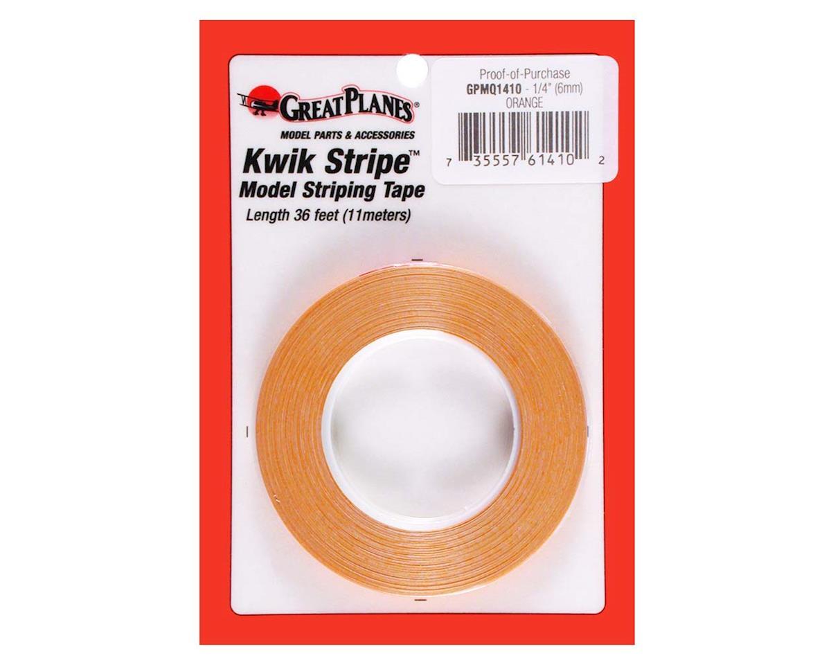 "Great Planes Striping Tape Orange 1/4"""