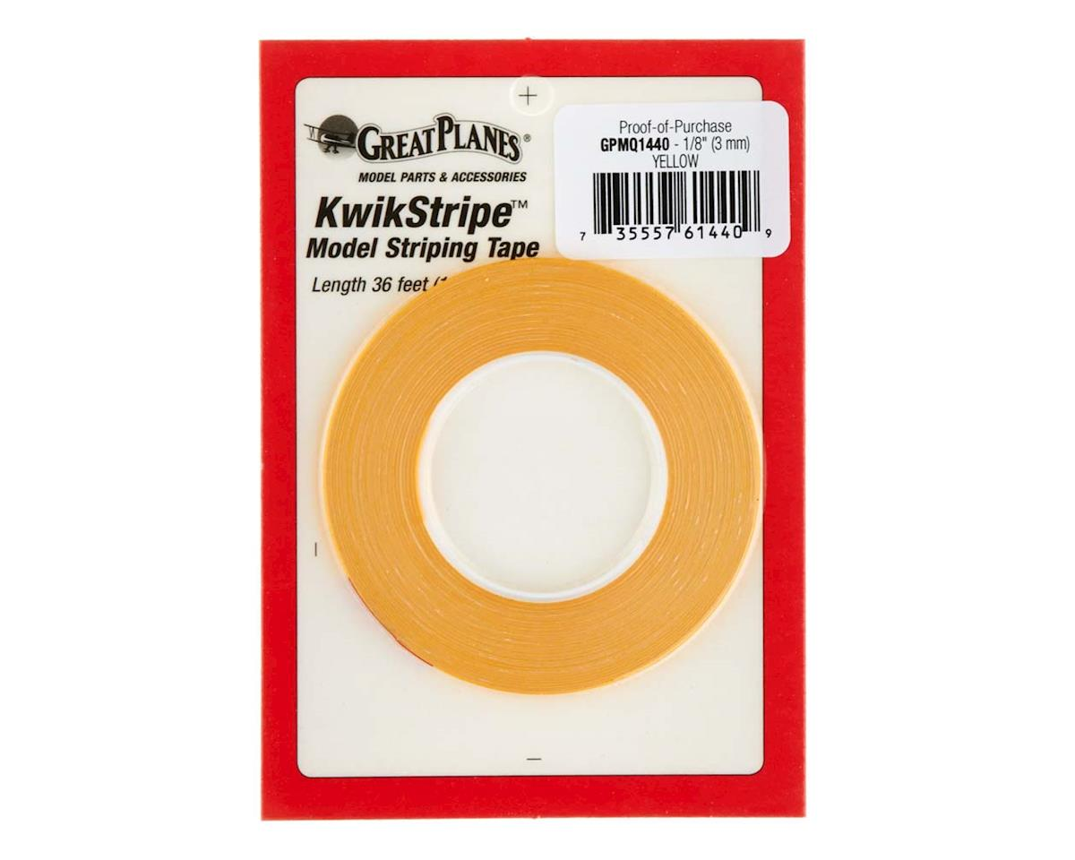 Great Planes  Stripe Tape Yellow 1/8""