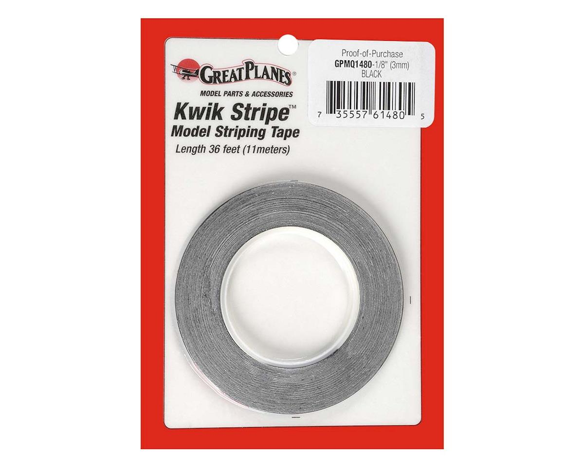 Great Planes  Striping Tape Black 1/8""