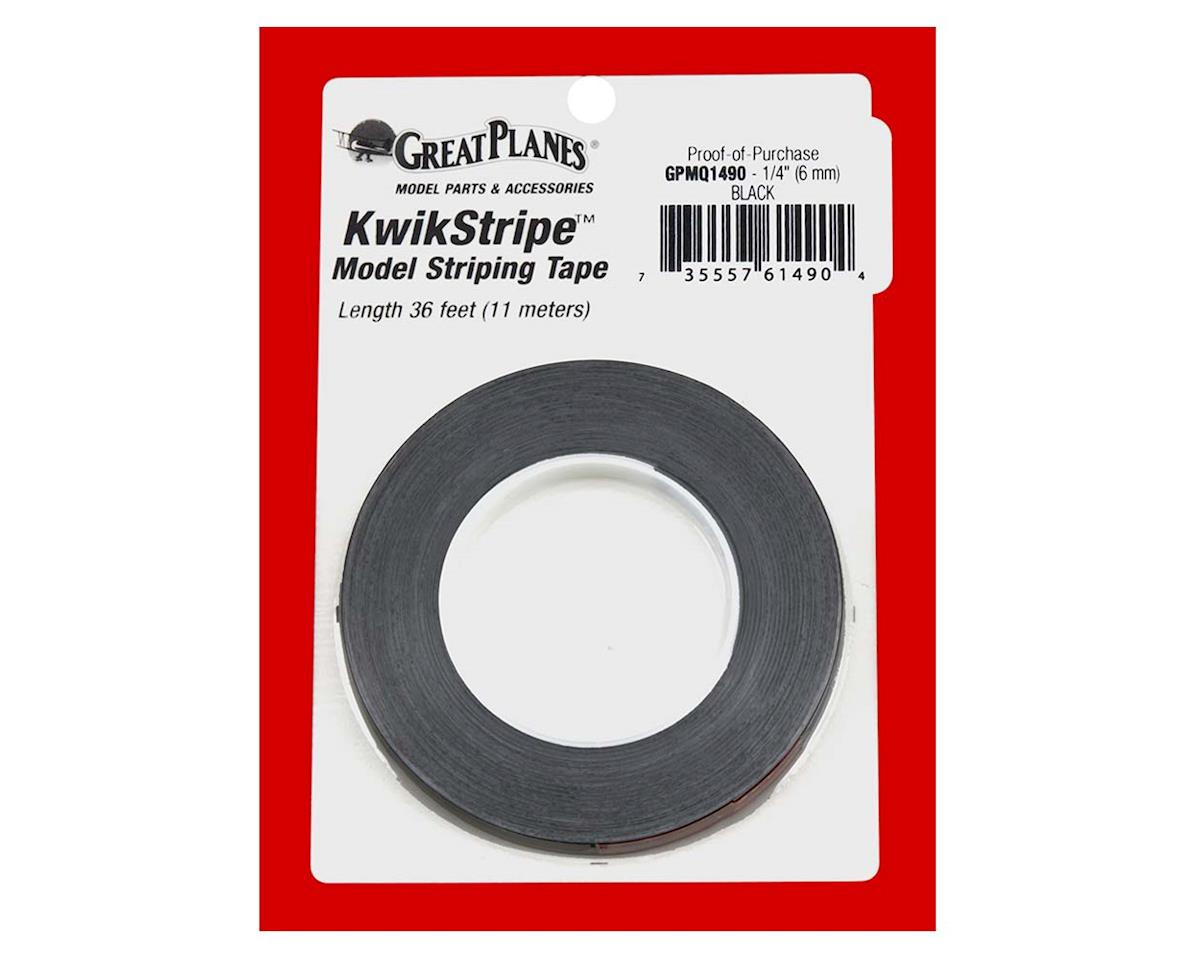 Great Planes  Striping Tape Black 1/4""