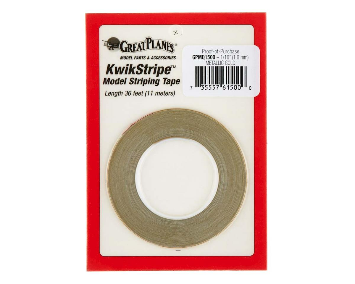 Great Planes Striping Tape Metallic Gold 1/16""