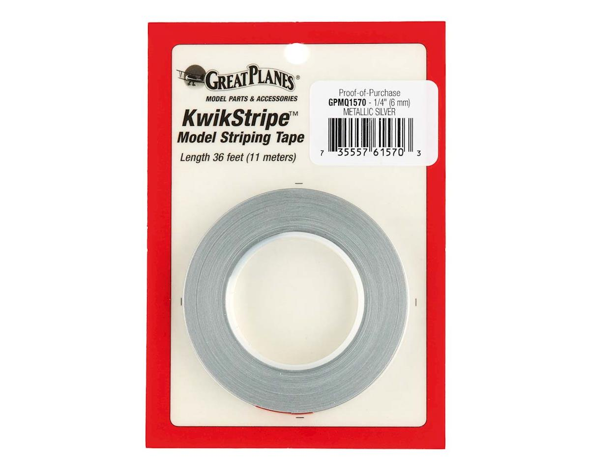 Great Planes Striping Tape Metallic Silver 1/4""