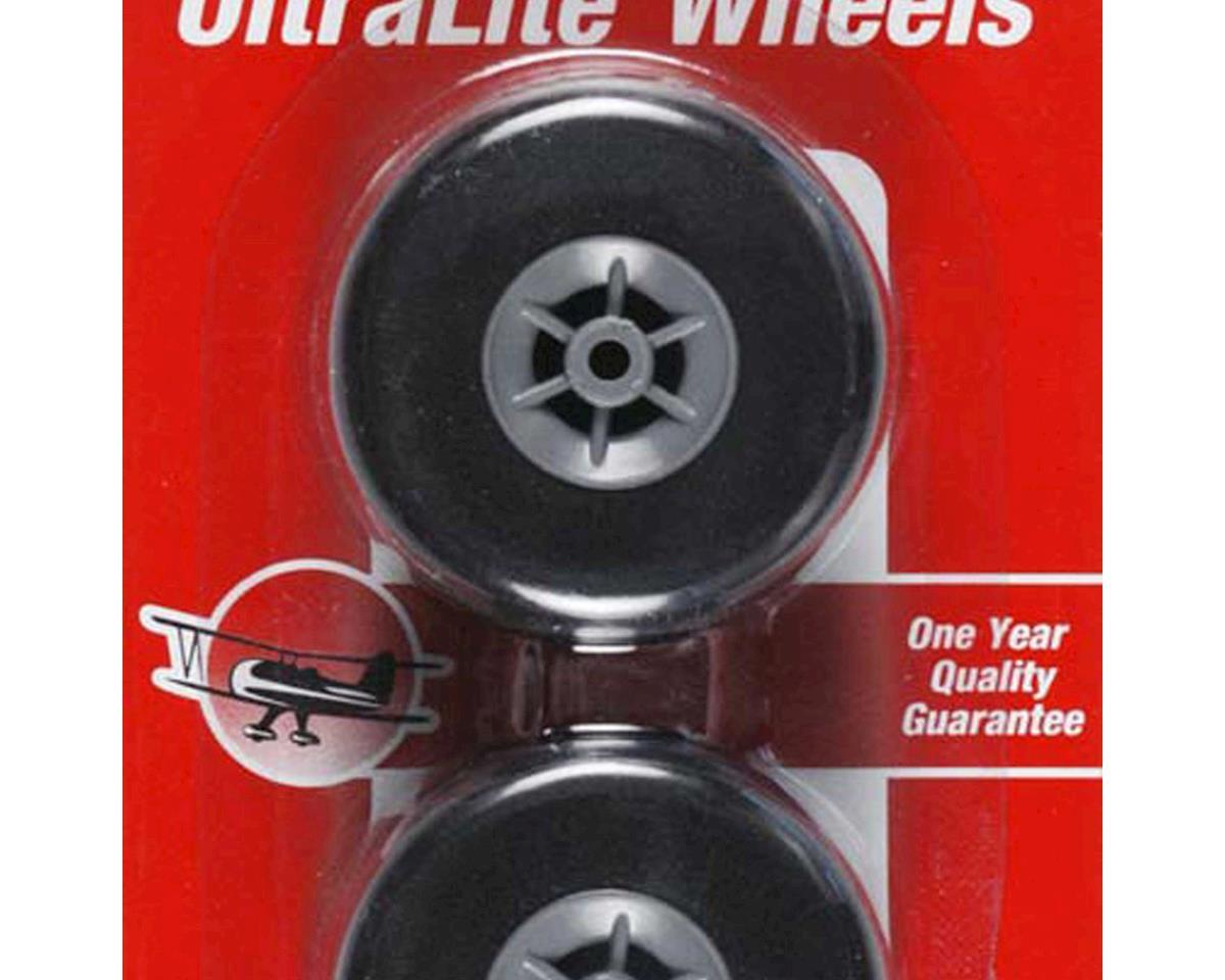 """Great Planes Ultralite Wheels 1-3/4"""" (2)"""