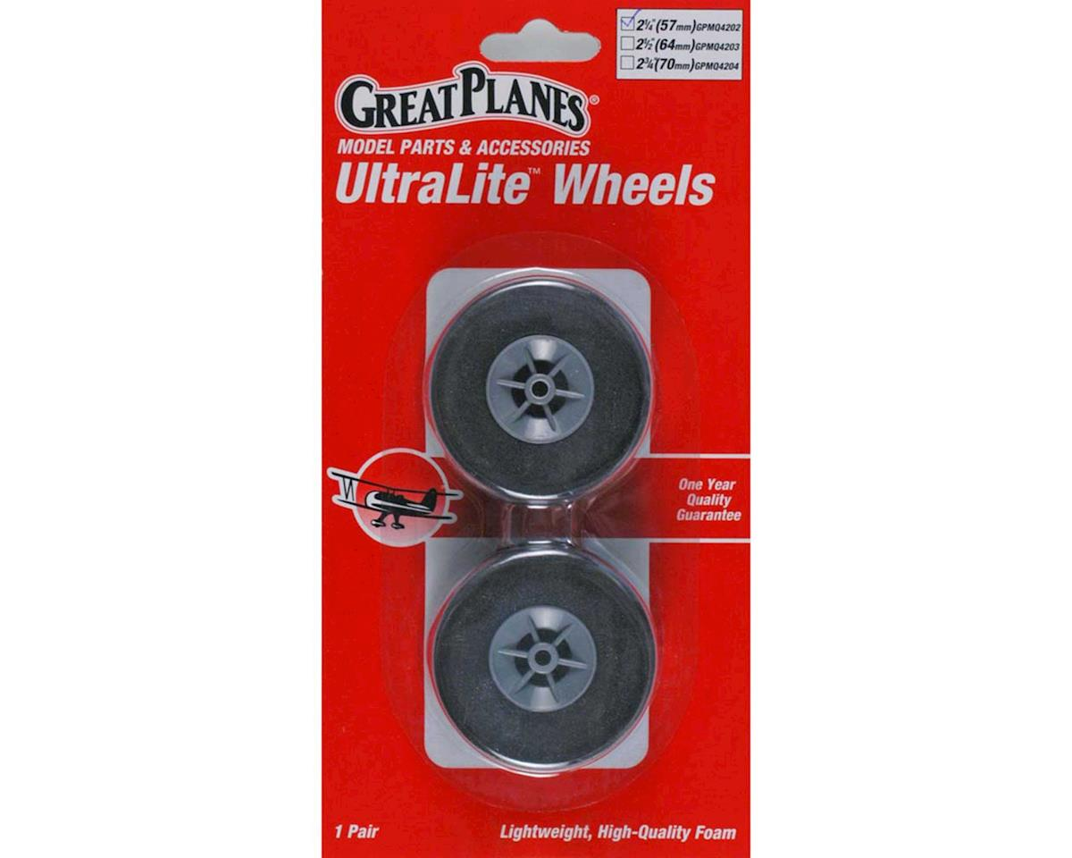 "Great Planes Ultralite Wheels 2-1/4"" (2)"