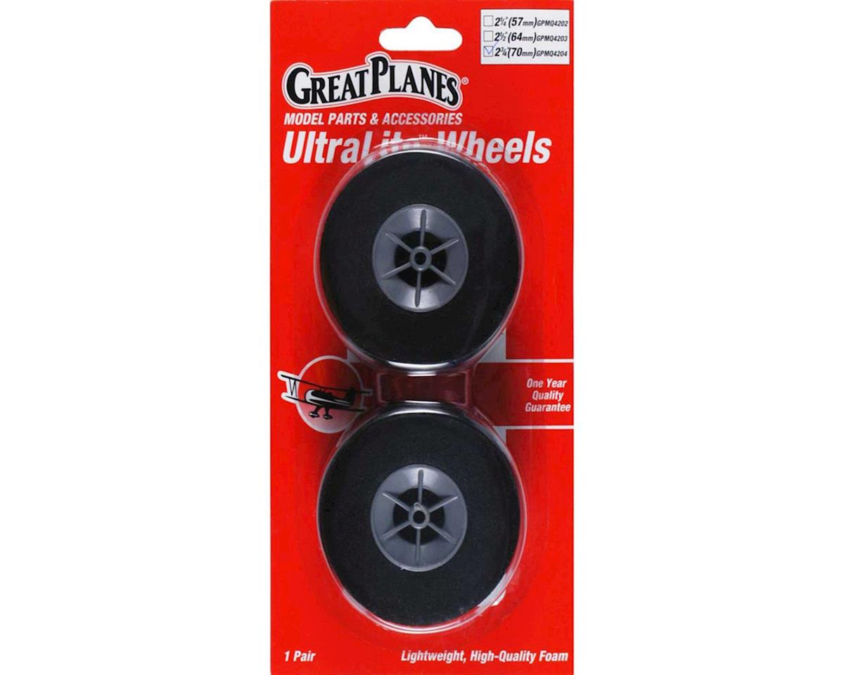 Ultralite Wheels 2-3/4  (2) by Great Planes