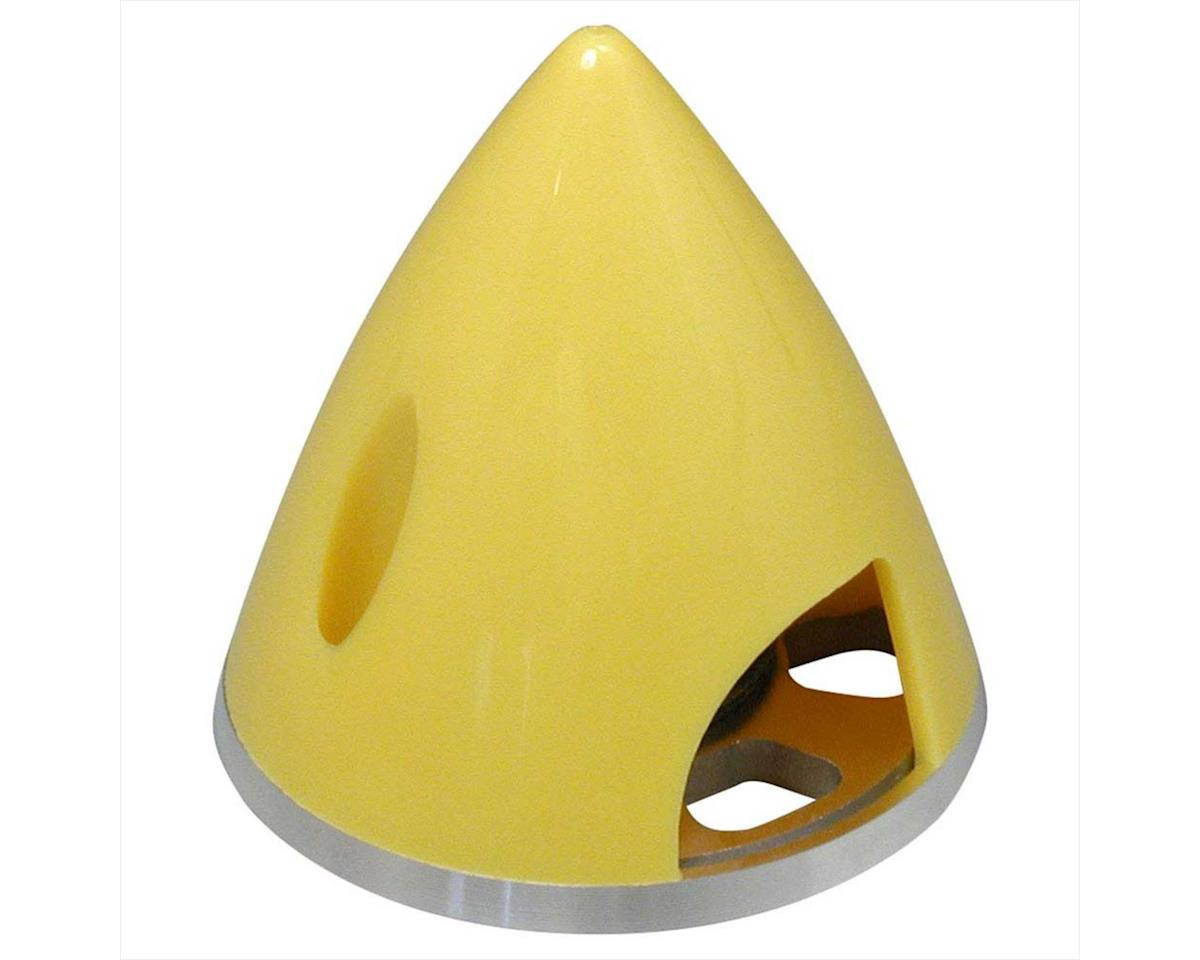 Great Planes Spinner 1-3/4  Nylon Alum Yellow