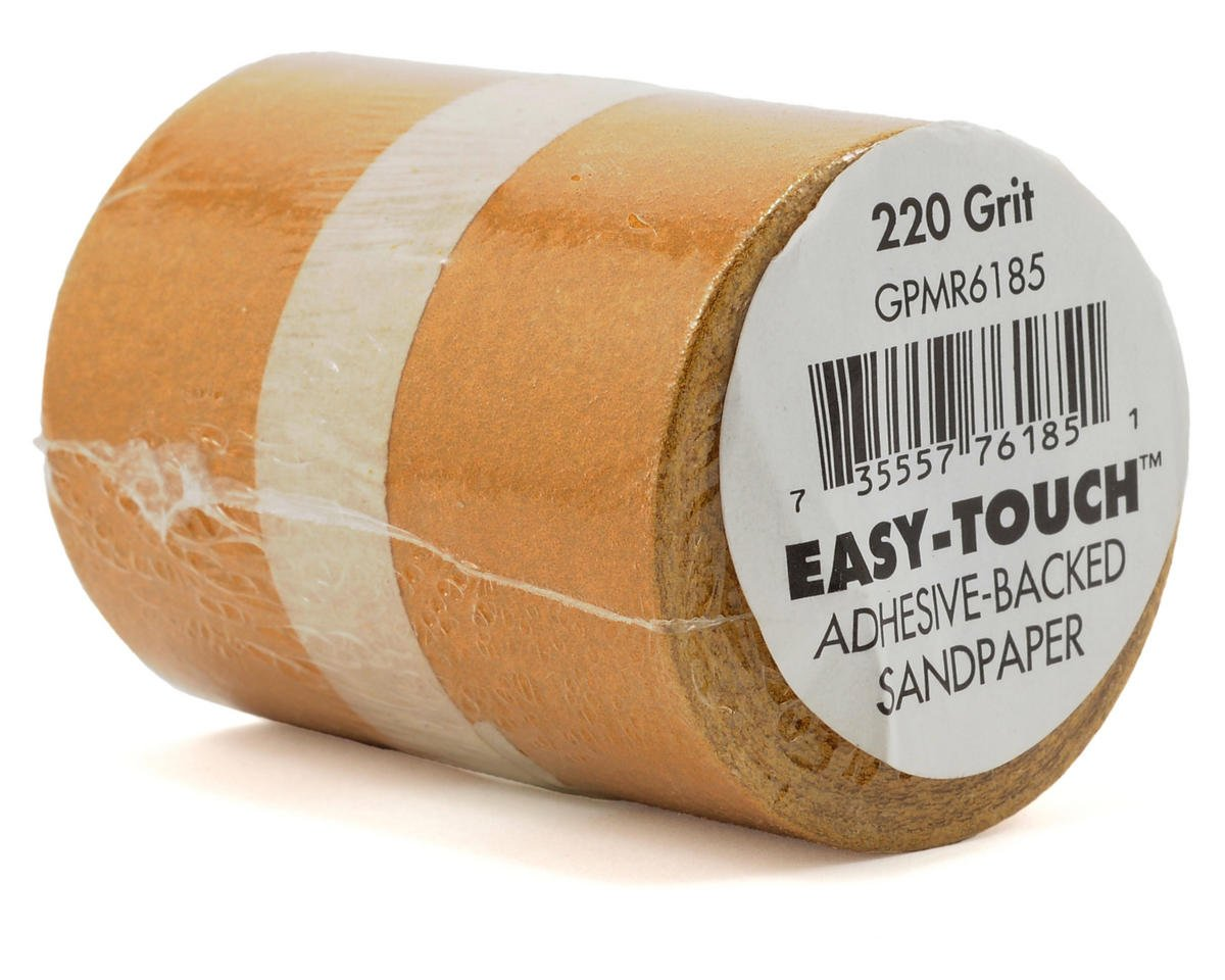 "Easy-Touch 220 Grit Sandpaper (2 1/4""x12') by Great Planes"