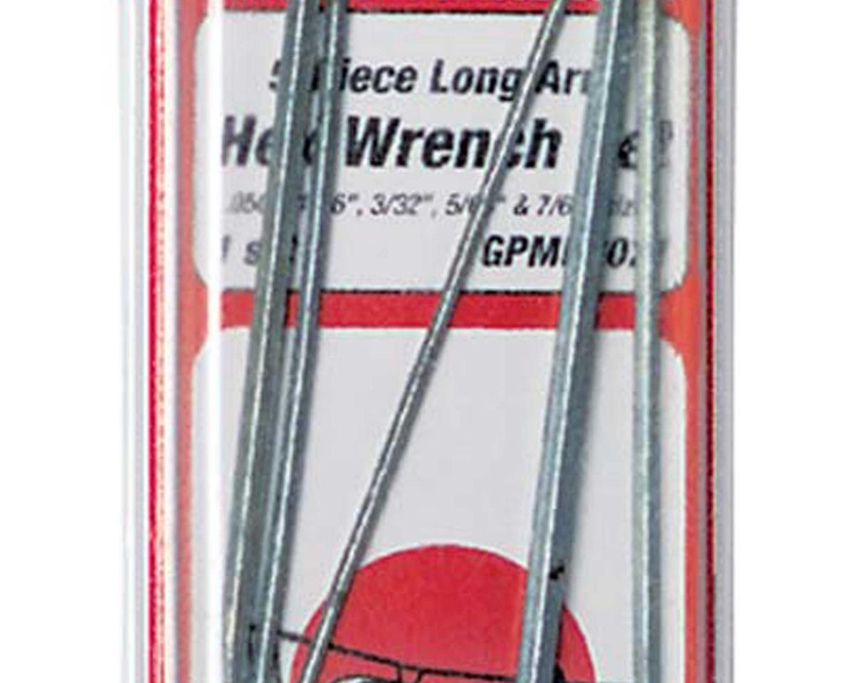 Great Planes Long Hex Wrench Set (5)