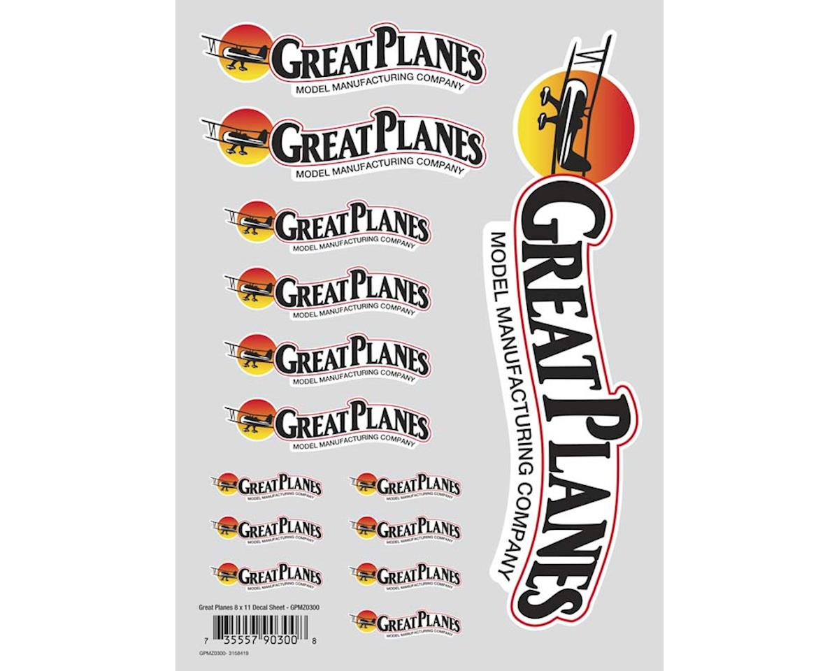 Great Planes Die Cut Decal Sheet 8x11""