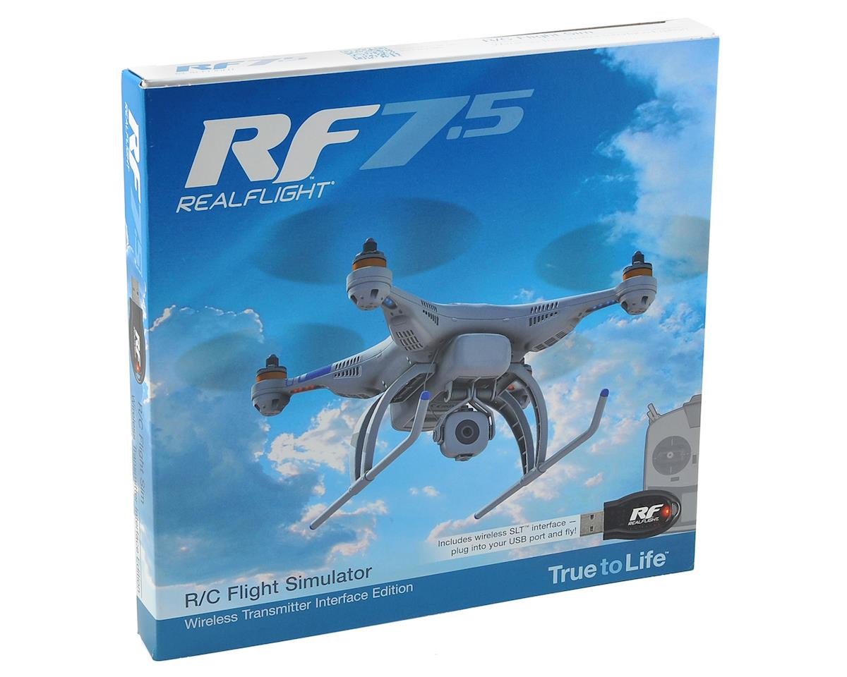 SCRATCH & DENT: Great Planes RealFlight 7.5 w/Wireless SLT Transmitter Interface