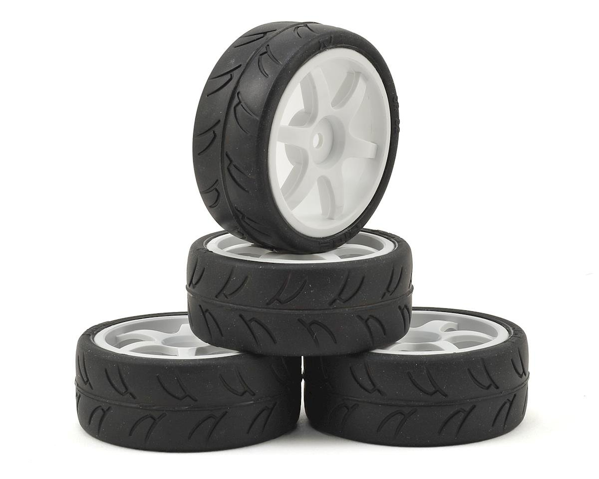 USGT Pre-Mounted GT Rubber Tires by Gravity RC