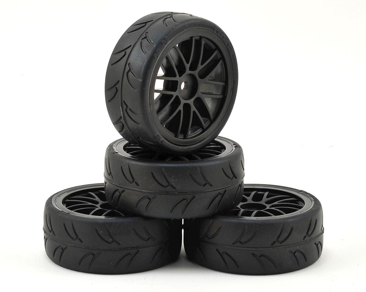 12mm Hex USGT Pre-Mounted 1/10 GT Rubber Tires by Gravity RC