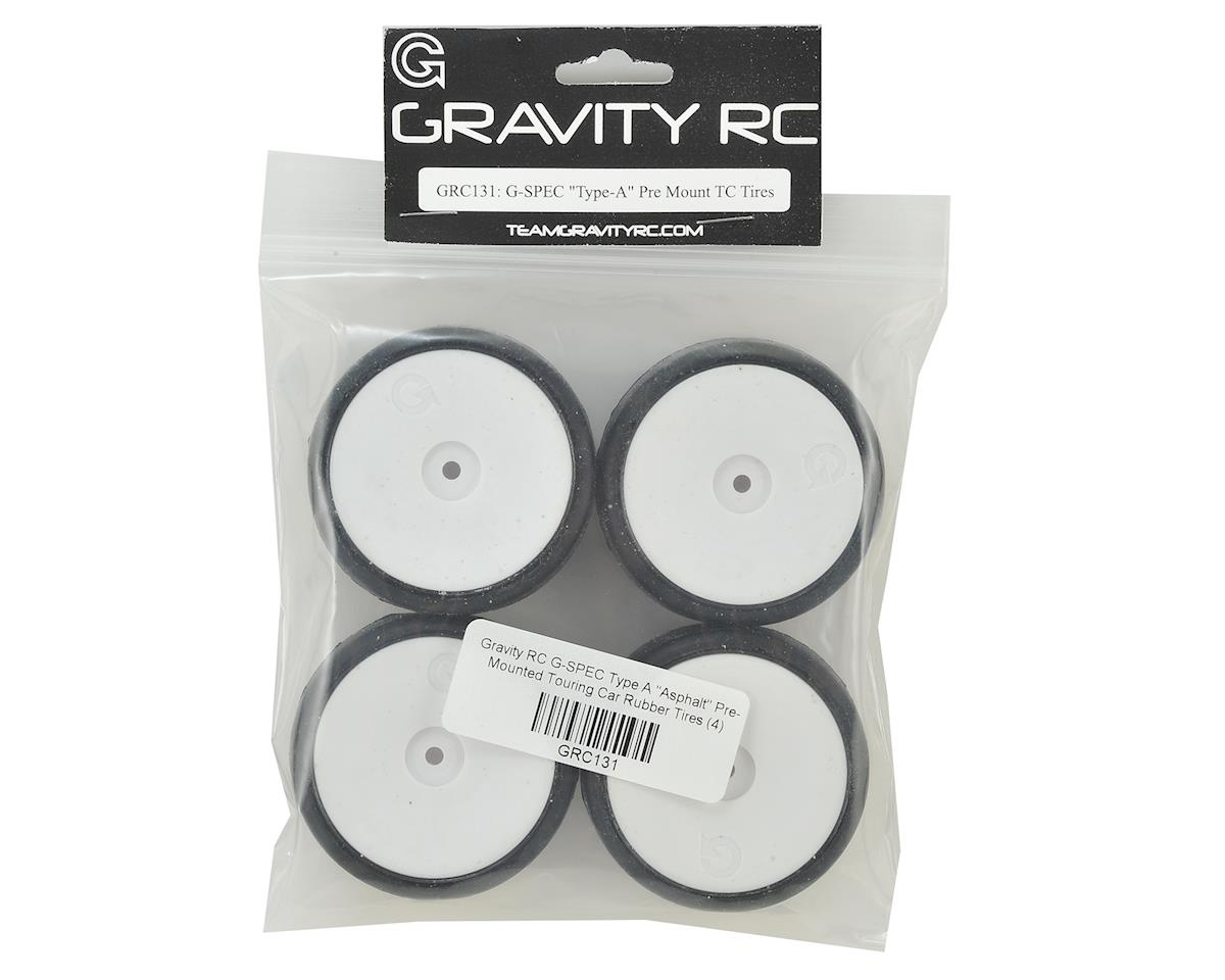 "Gravity RC G-SPEC Type A ""Asphalt"" Pre-Mounted Touring Car Rubber Tires (4)"