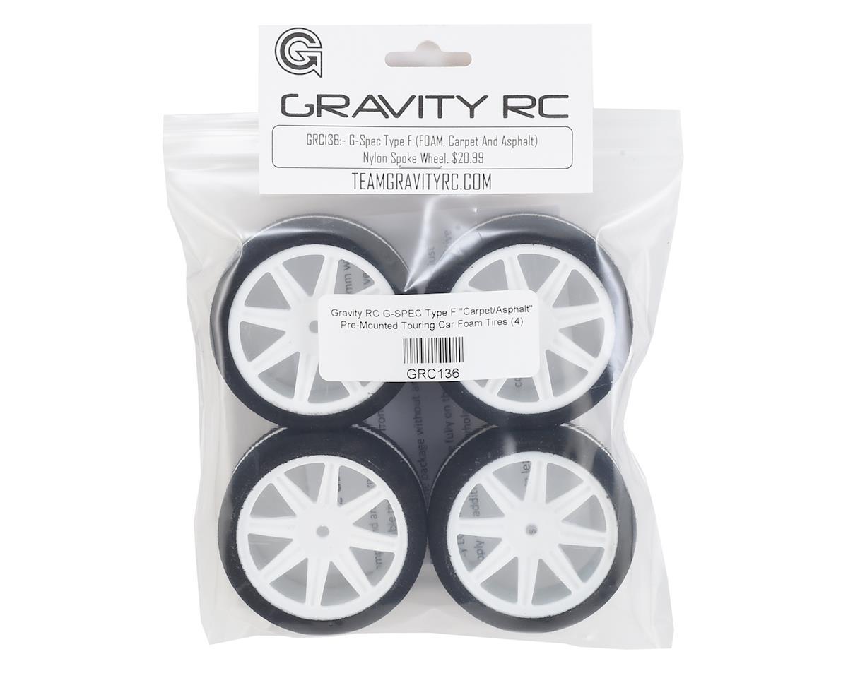 "Gravity RC G-SPEC Type F ""Carpet/Asphalt"" Pre-Mounted Touring Car Foam Tires (4)"