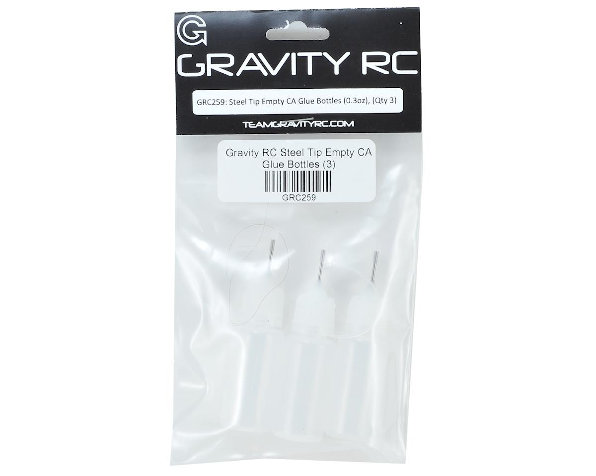 Steel Tip Empty CA Glue Bottles (3) by Gravity RC