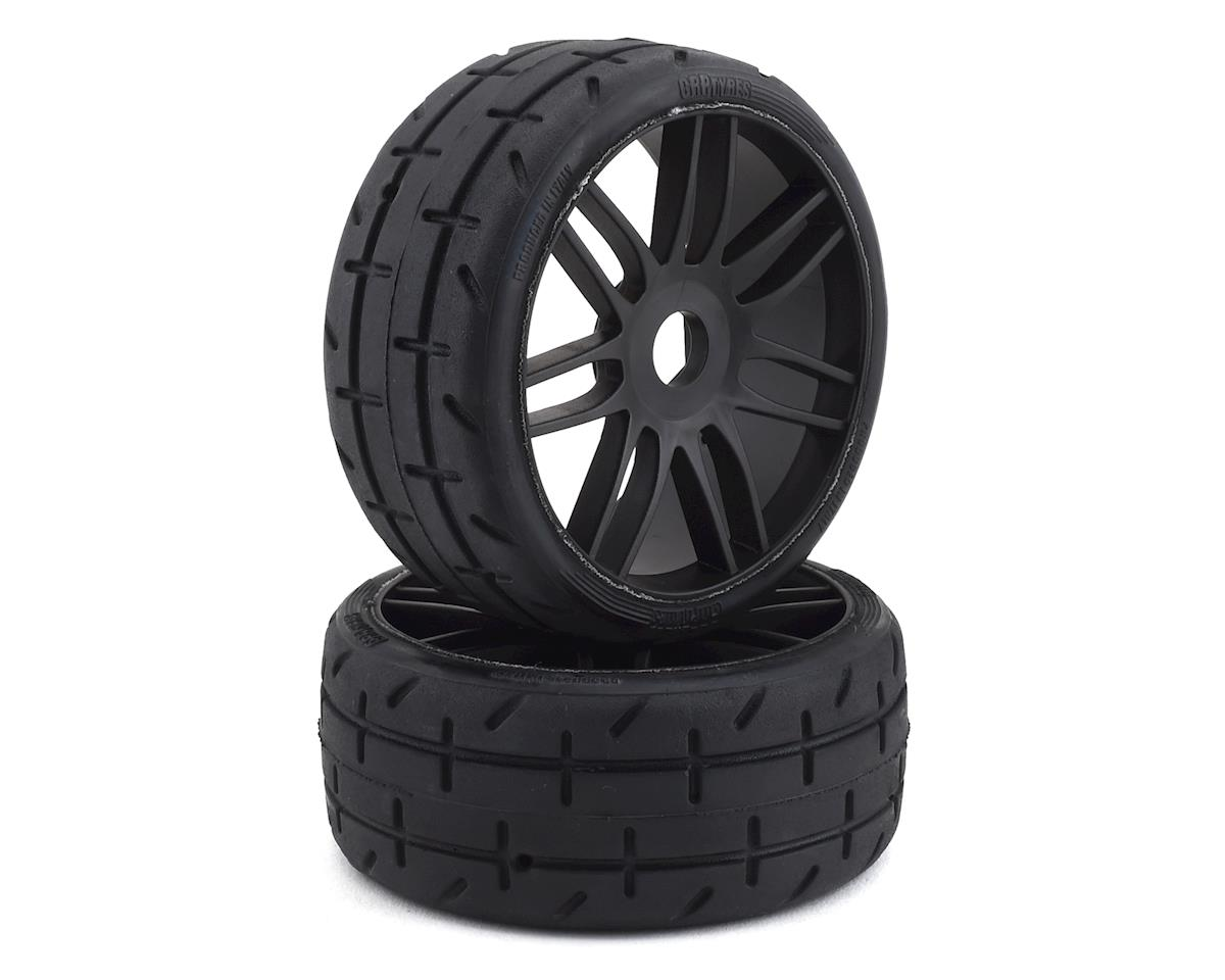 GRP GT - TO1 Revo Belted Pre-Mounted 1/8 Buggy Tires (Black) (2)