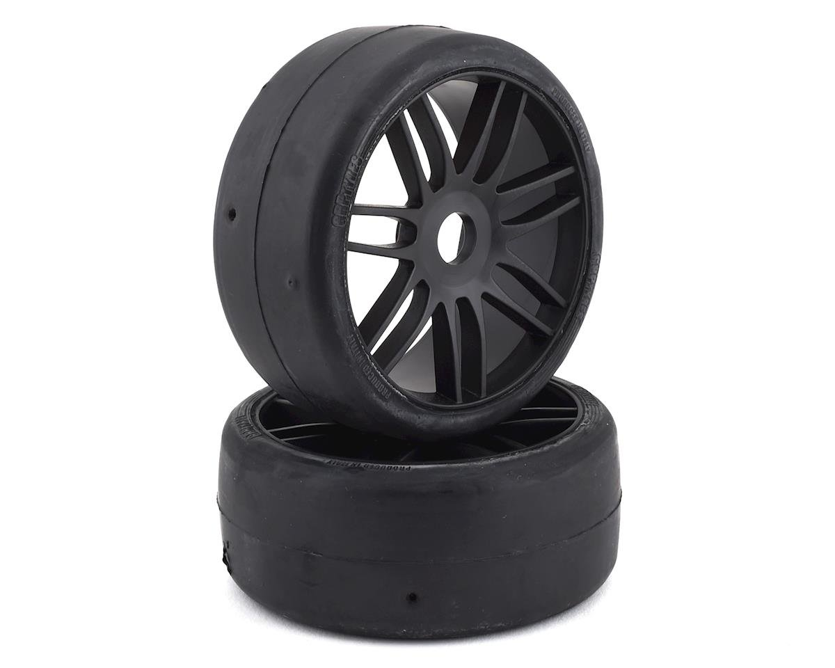GRP GT - TO2 Slick Belted Pre-Mounted 1/8 Buggy Tires (Black) (2)