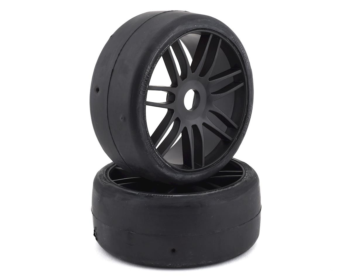 GRP GT - TO2 Slick Belted Pre-Mounted 1/8 Buggy Tires (Black) (2) (Arrma Limitless)