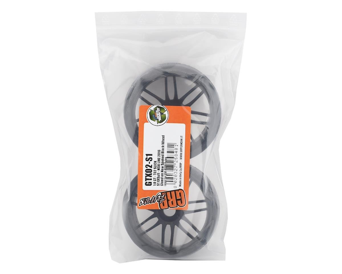 GRP GT - TO2 Slick Belted Pre-Mounted 1/8 Buggy Tires (Black) (2) (S1)