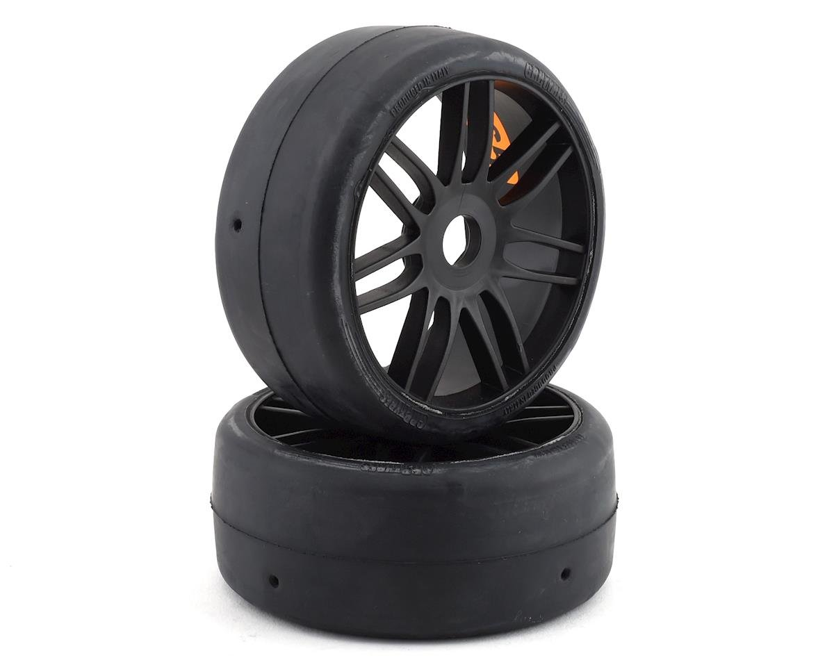 GRP GT - TO2 Slick Belted Pre-Mounted 1/8 Buggy Tires (Black) (2) (S5)