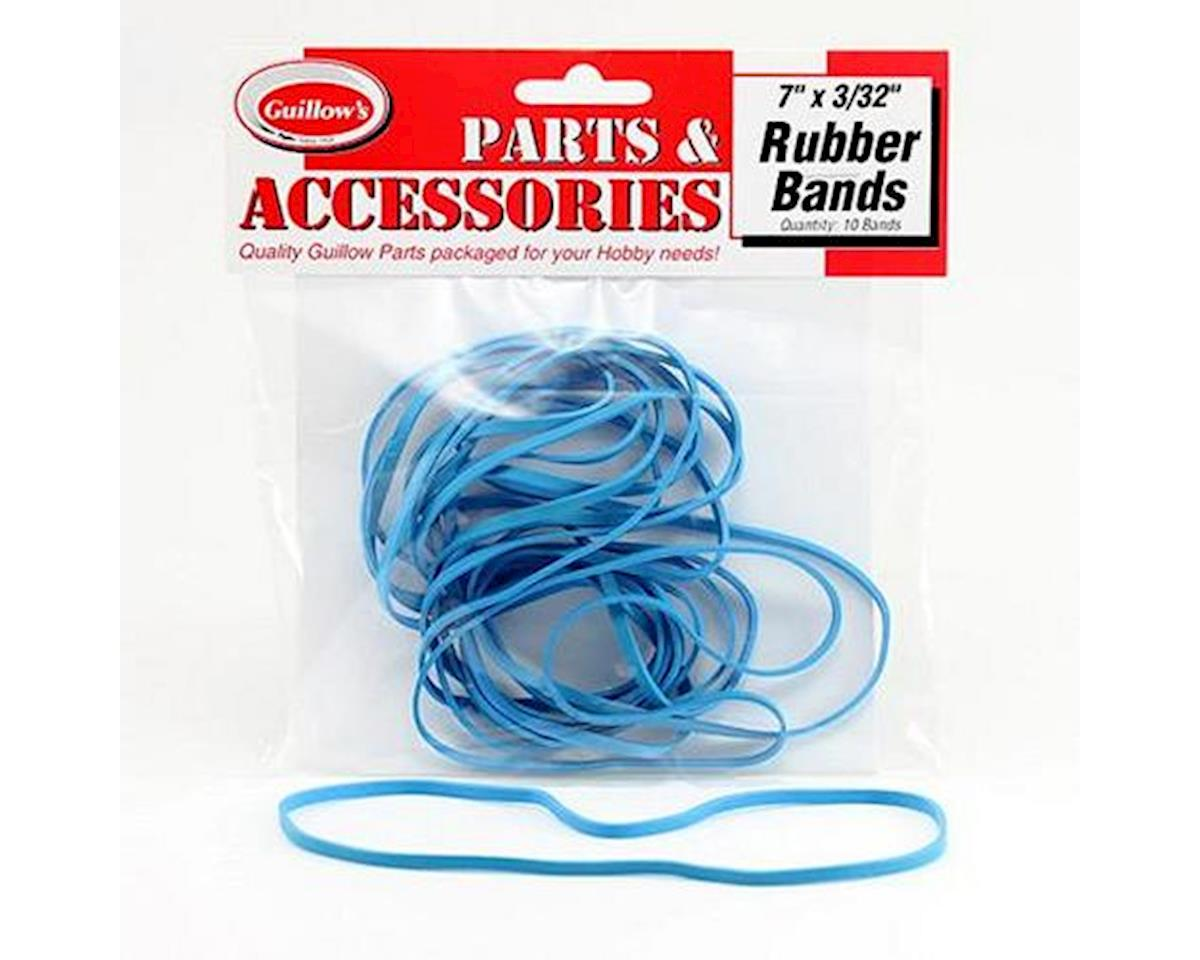 "Guillow 7x3/32"" Rubber Bands (10) 