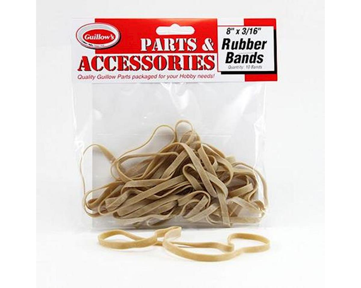 "Guillow 8x3/16"" Rubber Bands (10)"