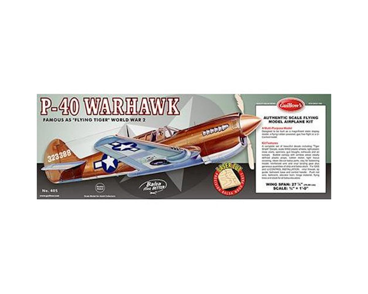Guillow Curtiss P40 Warhawk Laser Cut