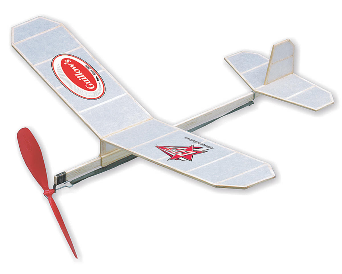 """Cadet Rubber Powered """"Build-N-Fly"""" Airplane Kit by Guillow"""