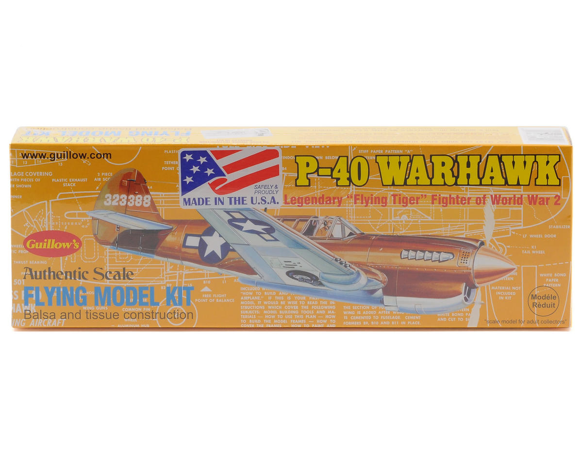 Guillow P-40 Warhawk Flying Model Kit
