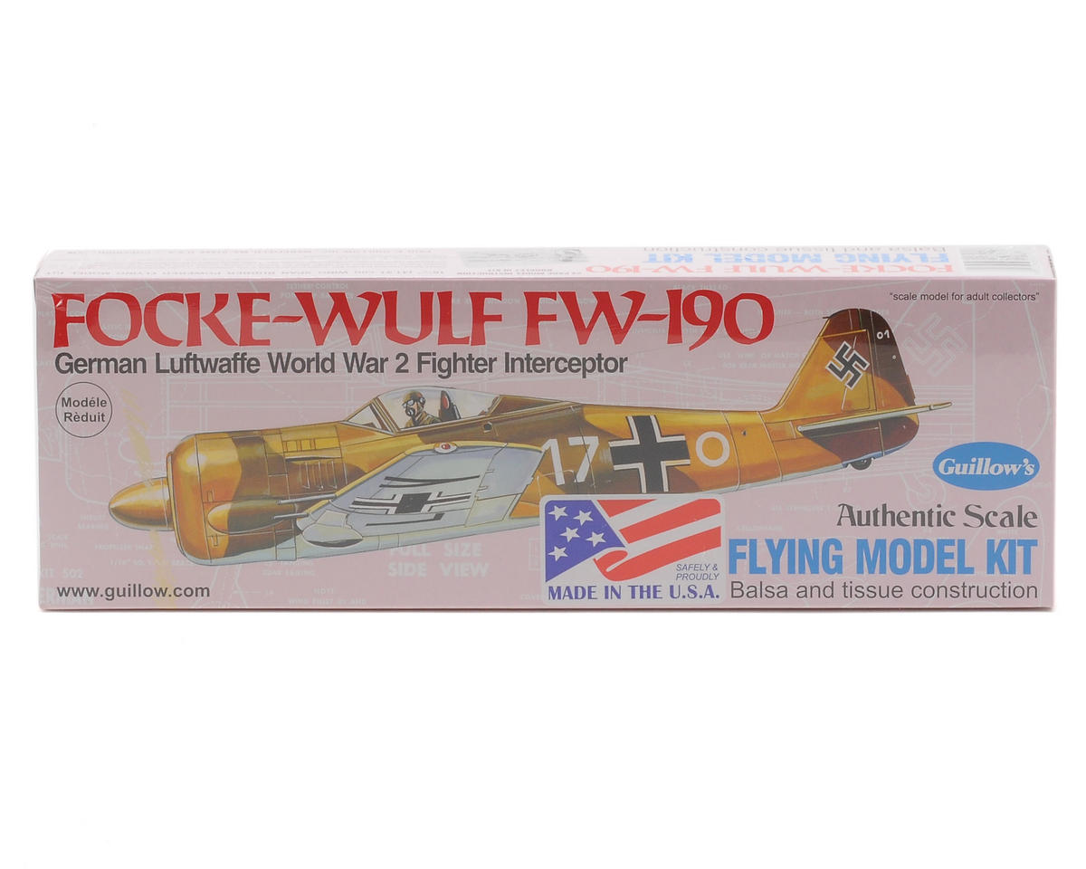 Focke-Wulf FW-190 Flying Model Kit by Guillow