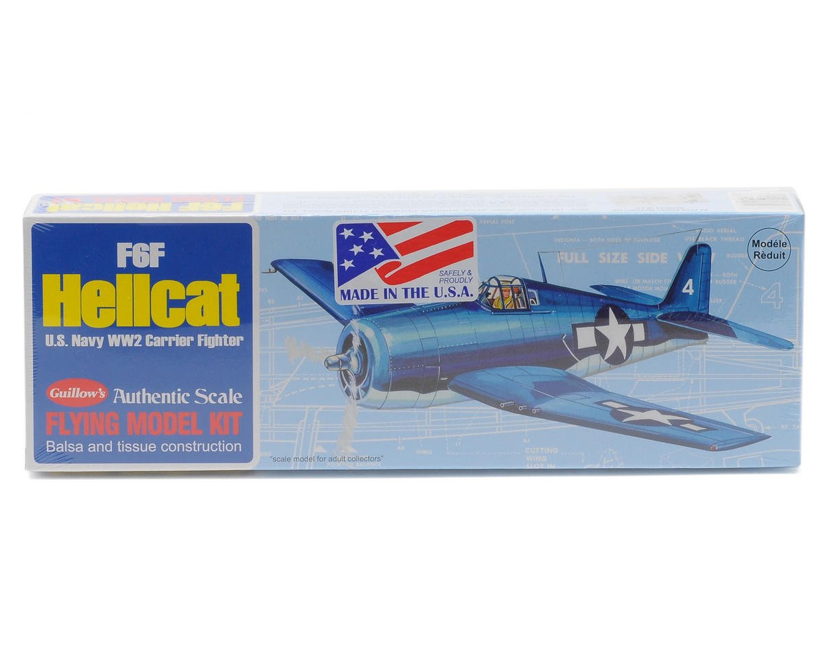 F6F Hellcat Flying Model Kit by Guillow