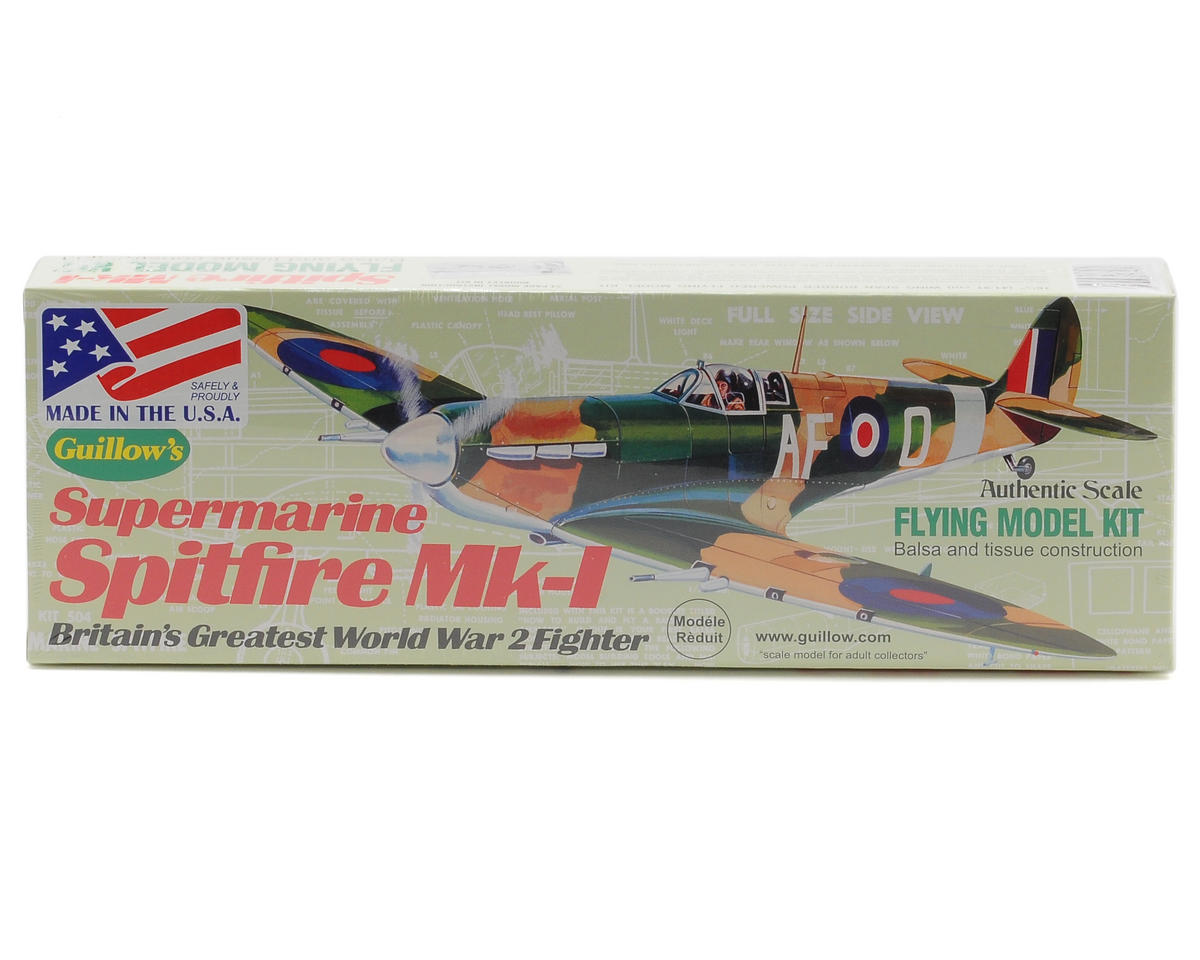 Supermarine Spitfire Mk-1 Flying Model Kit by Guillow