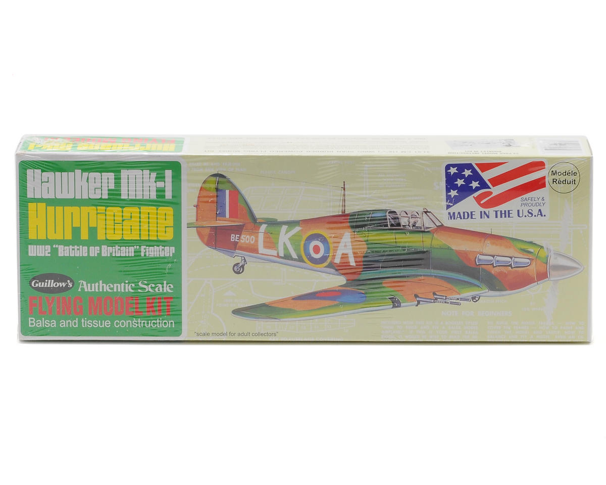Hawker Mk-1 Hurricane Flying Model Kit